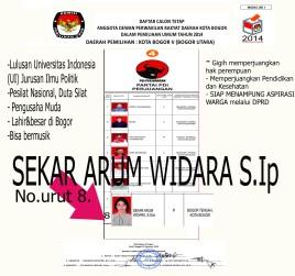 Caleg PDI Perjuangan Kota Bogor No.urut 8